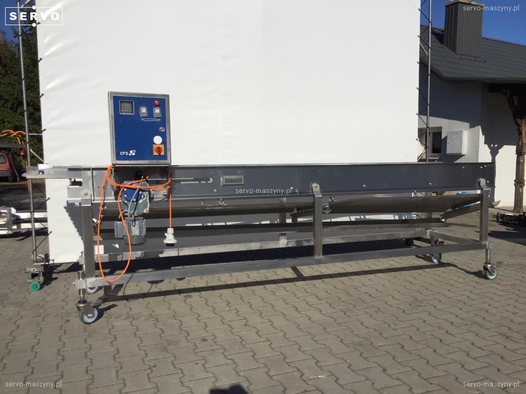 Transporter z taśmą nierdzewną CFS 3900 x 600 mm