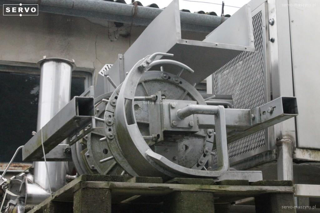 Maszyna do odcinania tuszki z toru do linii drobiowej Stork