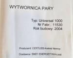 Wytwornica pary Certuss Universal 1000 #7